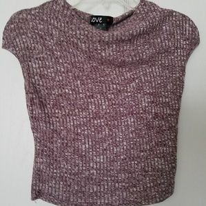 Berry / heathered crop top